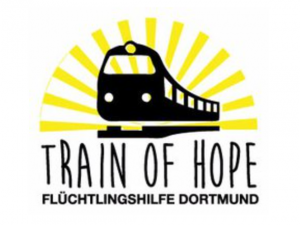 Das Logo der Internetseite Train of Hope Dortmund