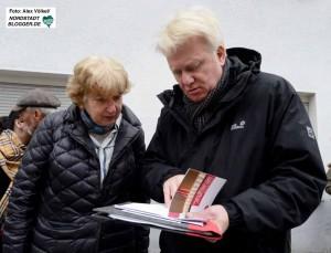 Obfrau Prof. Barbara John im Gespräch mit OB Ullrich Sierau.