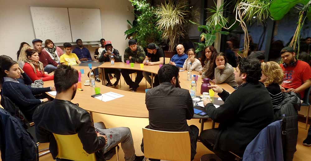 Die Nordstadt-Jugendlichen diskutierten über den krieg in Syrien.