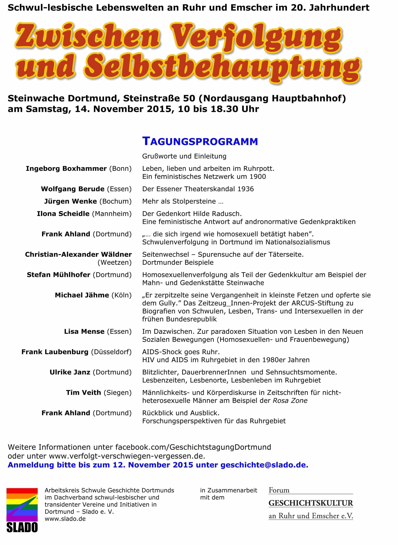 Das Tagungsprogramm