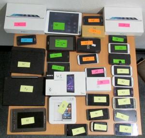 Vorwiegend auf moderne Smartphones und Tablets hatten es die Diebe abgesehen.