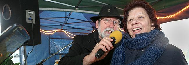 Winterfest am Borsigplatz – Bei den Temperaturen schmeckten der Glühwein und die Erbsensuppe