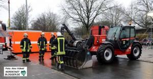 Die Feuerwehr organisiert die Drehscheibe in Dortmund.