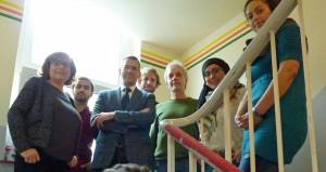 Das GrünBau-Team mit Förderer Gerd Galonska von der PEAG (3. von links). Foto: Joachim vom Brocke