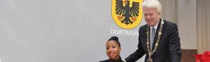 Schriftstellerin Marie N'Diaye hat den Nelly-Sachs-Preis bekommen. Fotos: Dortmund Agentur/Anja Kador