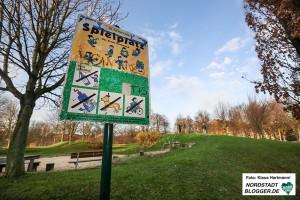 Verein Kinderlachen spendet 100.000 Euro für die Sanierung von Kinderspielplätzen in der Nordstadtstadt. Der Spielplatz auf der Heroldwiese