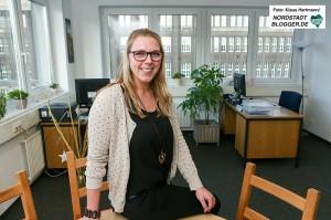 Sozialdienst katholischer Frauen initiiert Projekt U 25 Suizidprävention - Jugendliche helfen Jugendlichen. Laura Maria Lintzen, Koordinatorin U25 Dortmund im Projektraum