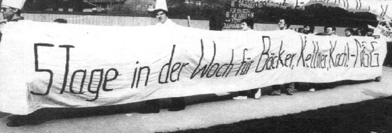 Tarifverhandlungen im Jahr 1981 legten ein Augenmerk auf die Verkürzung der Arbeitszeit