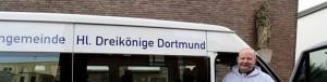 Der neue name und das neue Logo prangen schon auf dem Transporter der Gemeinde.