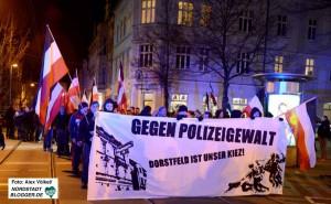 Gegen angebliche Polizeigewalt hatten die Neonazis Anfang Januar demonstriert.