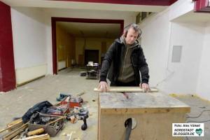 Fotokünstler Hendrik Müller möchte sich im hinteren Teil des Ladens ein Fotostudio einrichten.