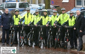 Fahrradstaffel der Dortmunder Polizei wird vcerdoppelt. Polizeipräsident präsentiert die erweiterte Staffel