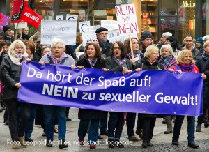 Demonstration gegen sexuelle Gewalt im Jahr 2016.