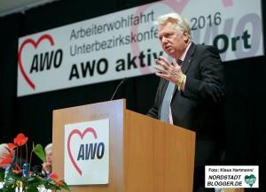 AWO Bezirkskonferenz 2016 in der Alten Schmiede in Dortmund-Huckarde. Ullrich Sierau