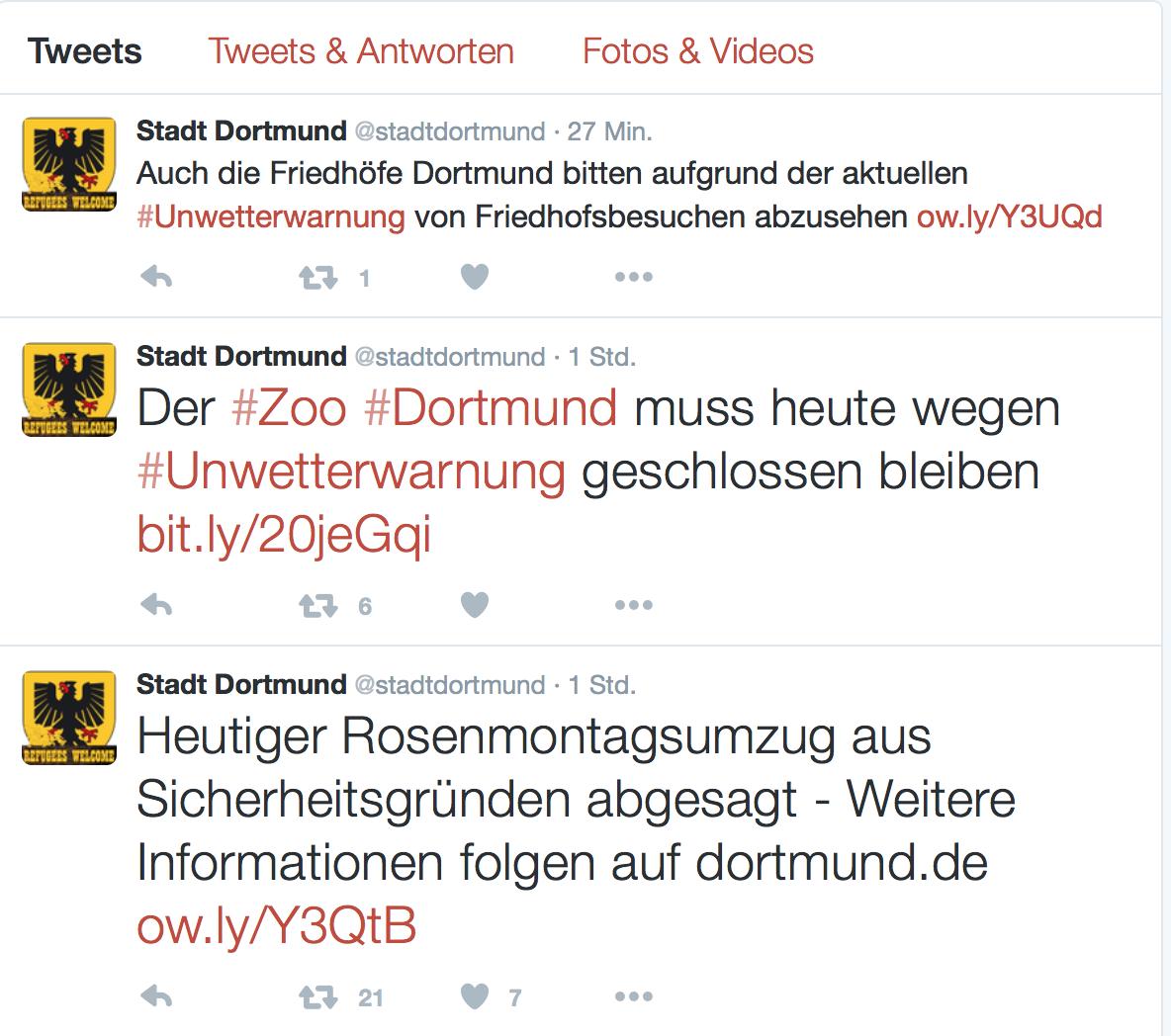 Keine schönen Nachrichten hält die Stadt Dortmund heute bereit.