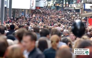 Weihnachtsshopping oder Umtauschstress - in der City ist es rund um Weihnachten extrem voll.