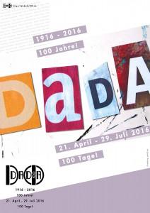 !00 Jahre Dadaismus. Plakat zur Veranstaltungsreihe DADADO100. Grafik :Heike Kollakowski