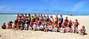 """Die Aktion """"Hilfe für Japan"""" ermöglicht es Kindern, Urlaub im 2.200 Kilometer entfernten Okinawa zu machen."""