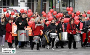 Aktion zum Equal Pay Day in Dortmund.