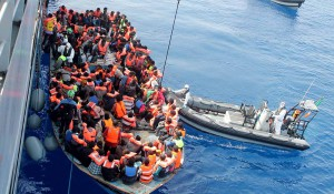 Viele Afrikaner haben sich auf den Weg nach Europa gemacht: Foto: Irish Defence Forces