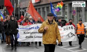 Willi Hoffmeister gehört seit Jahrzehnten zu den Organisatoren des Ostermarschs.