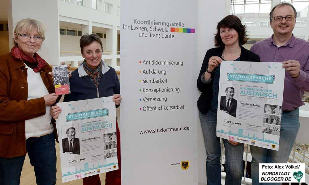Carolina Brauckmann, Helga Steinmaier, Susanne Hildebrandt und Frank Siekmann laden ein.