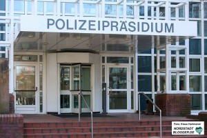 Vorstellung der Kriminalstatistik Polizei-Präsidium Dortmund. Polizei-Präsidium Gebäude außen