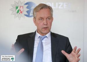 Vorstellung der Kriminalstatistik Polizei-Präsidium Dortmund. Polizeipräsident Gregor Lange