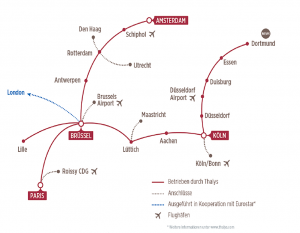 Thalys Streckennetz