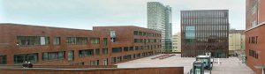 Erste Einblicke in Robert-Bosch- und Robert-Schuman-Berufskolleg am Dortmunder U. Blick auf den Emil-Moog-Platz