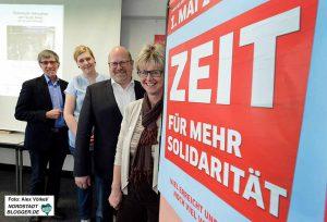 Friedrich Stiller, Marijke Garretsen, Michael Vogt und Jutta Reiter werben für die Veranstaltungen. Fotos: Völkel