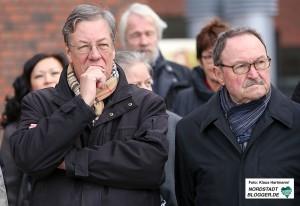 Einweihung der Benno Elkan-Allee am Dortmunder U. Dortmunder Alt-Bürgermeister: Gerhard Langemeyer, links, und Adolf Miksch