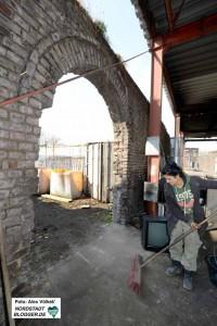Aus der ehemaligen Werkstatt- und Bereitstellungshalle ist mittlerweile eine geschlossene Veranstaltungshalle geworden.