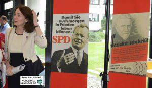 Andere SPD-Größen empfingen den Gast aus Berlin als Roll-Up. Die Botschaft war klar.