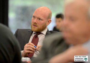 Der SPD-Vize Jens Peick sprach den GenossInnen an der Basis aus der Seele.