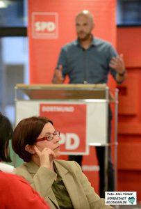 Nadja Lüders und Marco Bülow vertraten gegensätzliche Positionen.