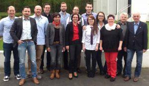Gruppenbild des neu gewählten Vorstandes - es fehlt Harald Hut. Foto: SPD