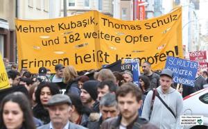 Gedenken und Protest stehen beim Tag der Solidarität im Mittelpunkt. Foto: Klaus Hartmann