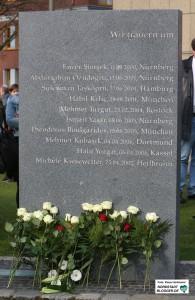 4. Tag der Solidarität gedenkt dem NSU-Mordopfer Mehmet Kubasik. Gedenkstein für die Opfer der NSU-Morde