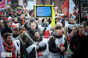 Tausende Beschäftigte des Öffentlichen Dienstes haben am Mittwoch gestreikt.