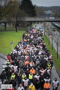 Tarifverhandlungen und Streik - bei ver.di Tagesgeschäft. Archivbild: Leopold Achilles