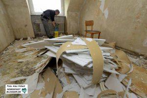 Die Aufräum- und Sanierungsarbeiten haben Ende Mai begonnen.