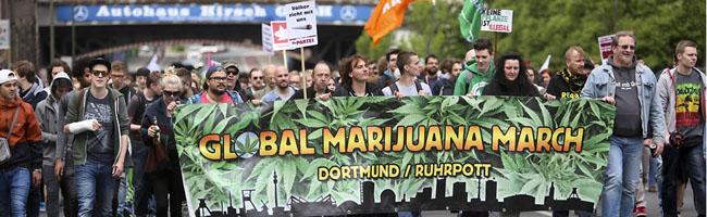 Global Marijuana March zieht am Samstag durch Dortmund: Jugendrichter fordert Legalisierung von Cannabis