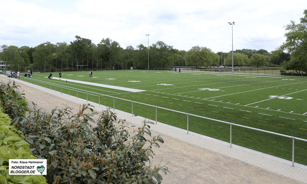 Kapazitätsengpässe im Hoeschpark bei den Sportvereinen. Der Platz für American Football