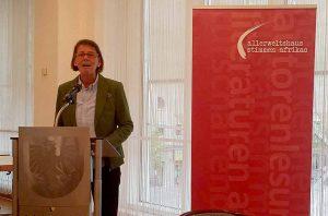 Bürgermeisterin Birgit Jörder begrüßte die Gäste im Rathaus.