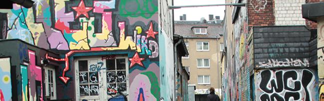 """Urbanes Spiel in Dortmund: Im Union-Viertel laden die Urbanisten zum ersten Mal zum  """"Street Art Bingo"""" ein"""