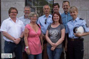 von Links: Ralf Becker (DSW21), Werner Blanke (ADFC), () Michael Reising, Carsten Elkmann, Stefanie Brochtrup, Markus Klecker, Nicole Jünemann