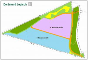 Auf der Brachfläche der ehemaligen Sinteranlage der Westfalenhalle wird REWE bauen.