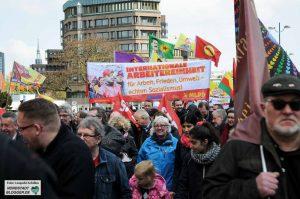 1. Mai 2016 Solidaritätsdemonstration Innenstadt Westfalenpark