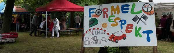 """""""Formel Respekt"""": Wegen Unwetter musste das beliebte Seifenkistenrennen in Dorstfeld vorzeitig beendet werden"""
